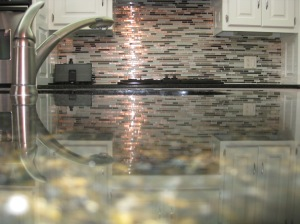 Linear Kitchen Backsplash
