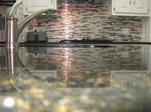 Linear Kitchen Backsplash