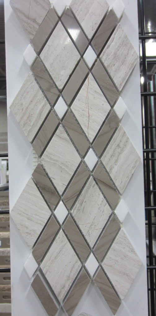 Stone tile in a unique diamond pattern