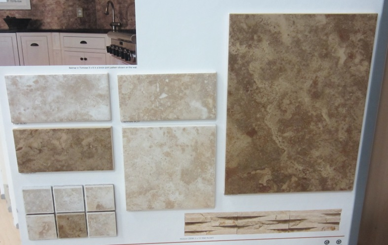 Ceramic tile offers the look of natural stone and comes in different shapes and sizes