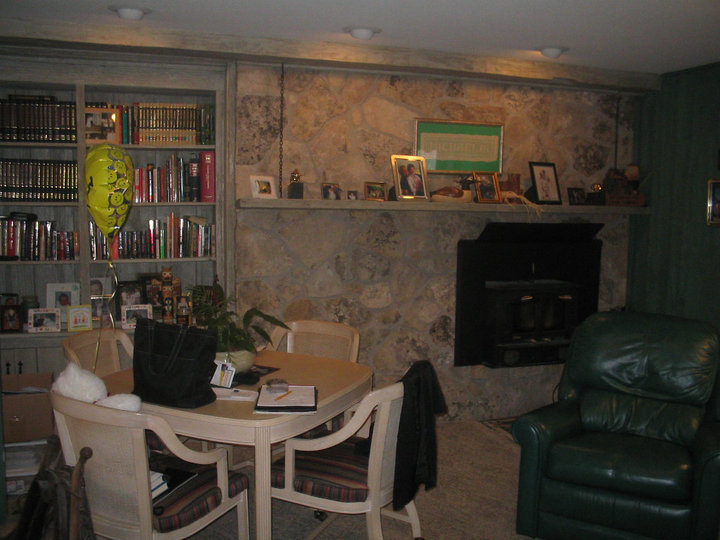 Before: Lots of items = lots of clutter
