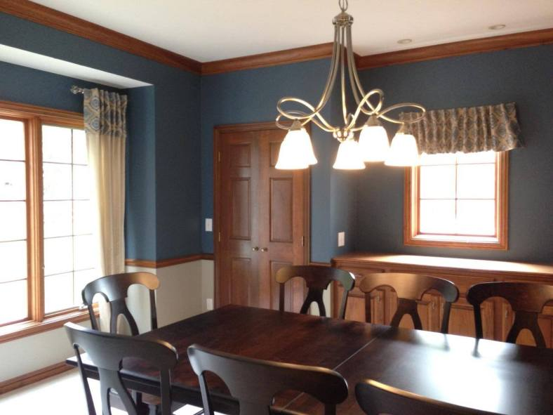 AFTER: This dining room looks much more dramatic with a new color.